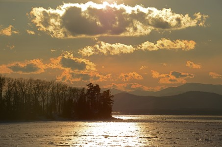 Lake Champlain sunset Shelburne, Vermont.