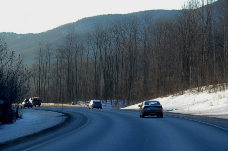 Interstate 89 south in Bolton, Vermont.