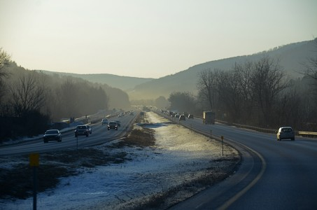 Interstate 89 in Bolton, Vermont.
