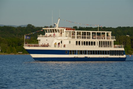 Spirit of Ethan Allen ll on Lake Champlain in Shelburne, Vermont.
