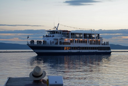 Spirit of Ethan Allen ll on Lake Champlain in Burlington, Vermont.