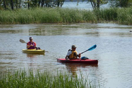Kayaking the LaPlatte River in Shelburne, Vermont.