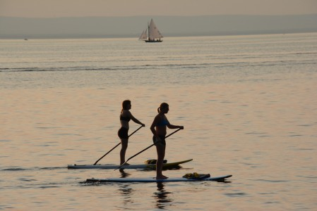 Red Rocks Park paddleboarding Lake Champlain Burlington, Vermont.