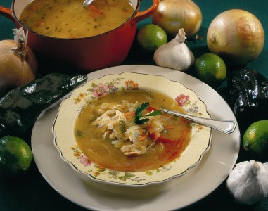 Hearty homemade chicken and vegetable soup