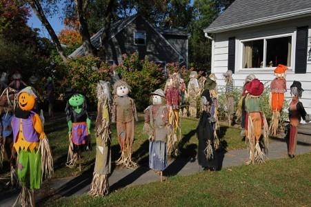 Fall scenery Shelburne, Vermont.
