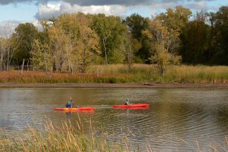 LaPlatte River kayaking Shelburne, Vermont.
