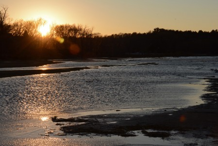 Sunset on Lake Champlain Shelburne Bay, Vermont.