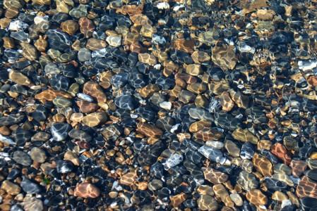 Rocky shoreline Lake Champlain Shelburne, Vermont.