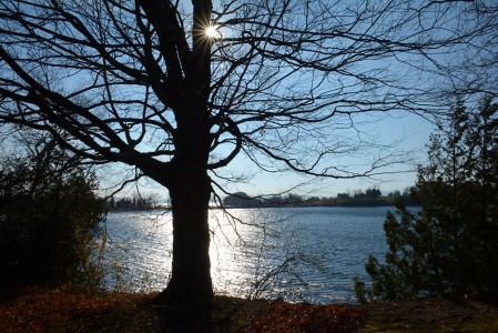 Fall on Lake Champlain Shelburne Bay, Vermont.