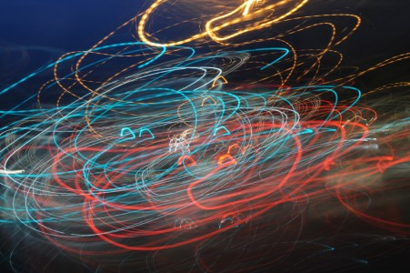 Painting with Light in traffic.