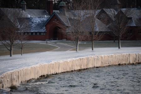 Lake Champlain sub zero Shelburne Farms, Vermont.
