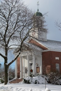 New snow Shelburne, Vermont.