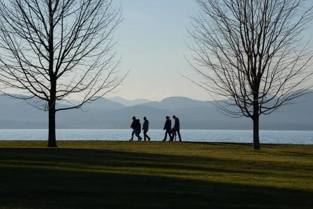 Lake Champlain ice Shelburne, Vermont.