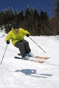 Skiing at Stowe Mountain Resort in Stowe, Vermont.