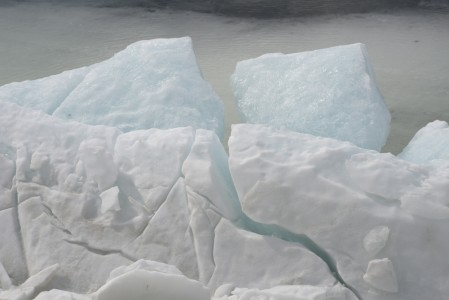 Lake Champlain ice Shelburne Farms, Vermont.