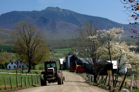 This small farm lies at the base of Mount Mansfield in Cambridge, Vermont