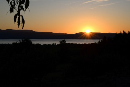 Lake Champlain sunset from Charlotte, Vermont.