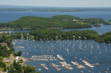 Malletts Bay on Lake Champlain Colchester, Vermont