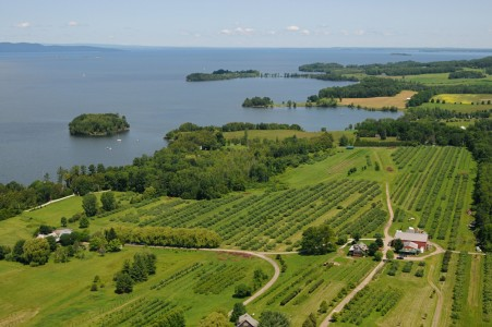 Shelburne Orchards on Lake Champlain Shelburne, Vermont.