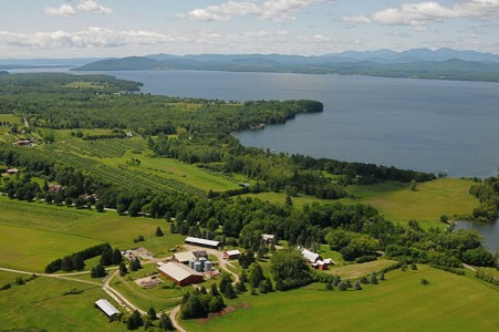Shelburne farms on Lake Champlain Shelburne, Vermont.