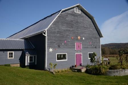 Fall barn Albany, Vermont.
