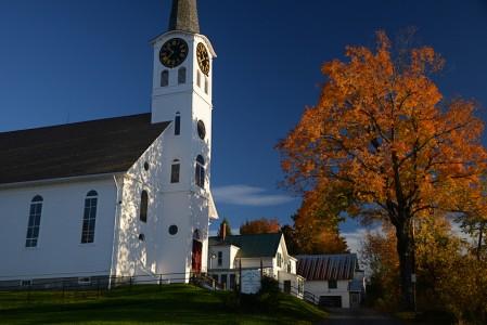 Fall foliage Barton, Vermont.