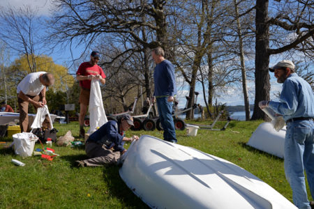 Opening day at Lake Champlain Yacht Club in Shelburne, VT.