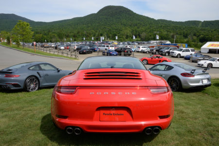 Porsche Club of America Parade at Jay Peak, VT.