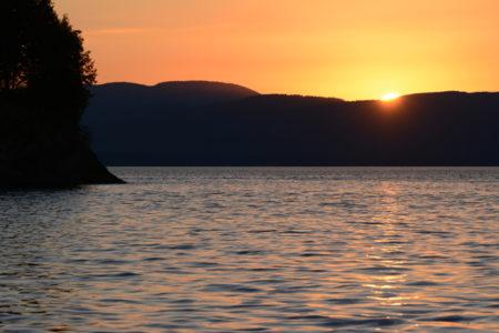 Lake Champlain sunset Shelburne Point, Vermont.