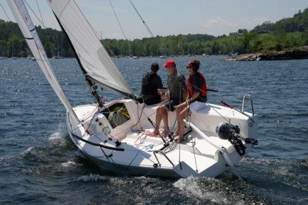 Lake Champlain Yacht Club sailing on Shelburne Bay, Shelburne, VT.