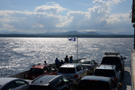 Charlotte to Essex Ferry on Lake Champlain in Charlotte, Vermont.